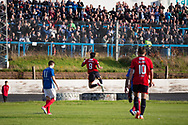 Dundee&rsquo;s Sofien Moussa celebrates after scoring an overhead kick to put his side 2-0 up - Cowdenbeath v Dundee in the Betfred Cup at Central Park, Cowdenbeath - Picture by David Young<br /> <br />  - &copy; David Young - www.davidyoungphoto.co.uk - email: davidyoungphoto@gmail.com