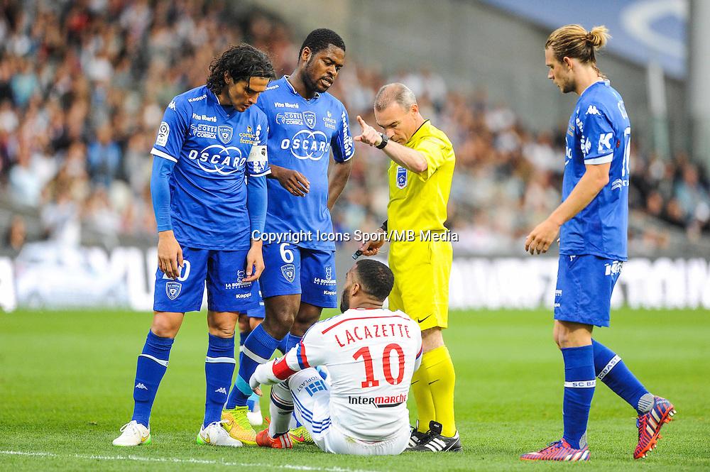 Lionel JAFFREDO / Alexandre LACAZETTE - 15.04.2015 - Lyon / Bastia - 32eme journee de Ligue 1<br />Photo : Jean Paul Thomas / Icon Sport