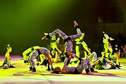 17.01.2011, Frankenstolz-Arena, Aschaffenburg, GER, TUI Feuerwerk der Turnkunst 2011, im Bild Expression - TV Erlenbach, EXPA Pictures © 2011, PhotoCredit: EXPA/ nph/  Roth       ****** out of GER / SWE / CRO ******