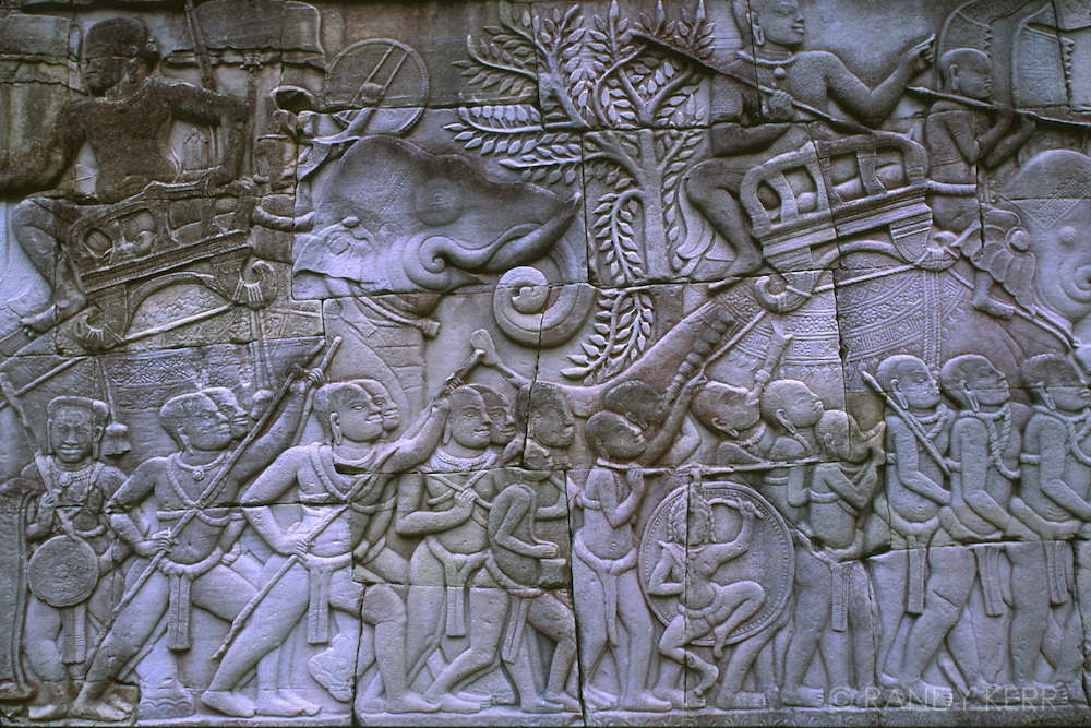 Bas Relief at Angkor Thom - elephant