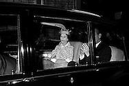 Regina Elisabetta II di Gran Bretagna con il marito il principe Filippo il Duca di Edimburgo nel corso di una visita reale a Roma il 14 ottobre1980, nella seconda visita di Stato  in Italia.<br /> Queen Elizabeth II of Great Britain with her husband Prince Philip the Duke of Edinburgh during a royal visit to Rome on 14 ottobre1980, the second State visit  to Italy.