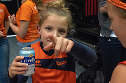 12-05-2019 NED: Abiant Lycurgus - Achterhoek Orion, Groningen<br /> Final Round 5 of 5 Eredivisie volleyball, Orion wins Dutch title after thriller against Lycurgus 3-2 / Orion youth support