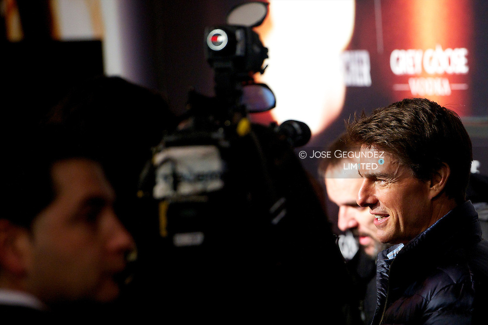 Tom Cruise attends the Spanish Premiere of 'Jack Reacher' at Callao Cinema on December 13, 2012 in Madrid, Spain.