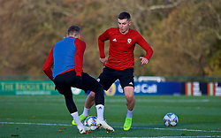 CARDIFF, WALES - Monday, November 12, 2018: Wales' Ben Woodburn during a training session at the Vale Resort ahead of the UEFA Nations League Group Stage League B Group 4 match between Wales and Denmark. (Pic by David Rawcliffe/Propaganda)
