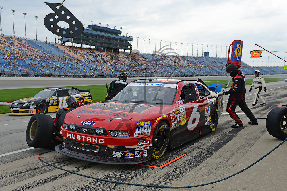 Joliet,Il - JUL 22, 2012: during race action for the STP 300 at Chicagoland Speedway in Joliet, Il.