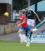 Dundee's Julen Etxabeguren dominates in the air against Wigan's Billy McKay - Dundee v Wigan Athletic - pre season friendly at Dens Park<br /> <br />  - &copy; David Young - www.davidyoungphoto.co.uk - email: davidyoungphoto@gmail.com