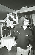 Bez with 'Bummed' gold disc, Factory Records party, Manchester, 1989