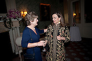 GILL COLERIDGE; CHARLOTTE MOSLEY, The Dowager Duchess od Devonshire and Catherine Ostler editor of the Tatler host a party to celebrate Penguin's reissue of Nancy Mitford's ' Wigs on the Green.'  The French Salon. Claridge's. London. 10 March 2010.
