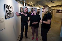 Pictured: Scottish Parliament Deputy Presiding Officer Christine Grahame, Sanne Schim van der Loeff of World Press Photo, and photographer Tom Stoddart<br /> Scottish Parliament Deputy Presiding Officer Christine Grahame, Sanne Schim van der Loeff of World Press Photo, and photographer Tom Stoddart were on hand as the World Press Photo exhibition was launched at the Scottish Parliament today.<br /> Ger Harley | EEm 3 August  2017