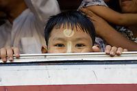 Face, Yangon Bus Myanmar