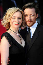 Anne Marie Duff & James McAvoy at the Olivier Awards 2012 at the Royal Opera House in London, 15 th April 2012 Photo by: Chris Joseph / i-Images