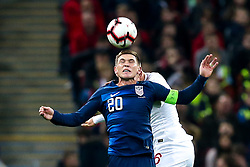 Wil Trapp of USA heads the ball - Mandatory by-line: Robbie Stephenson/JMP - 15/11/2018 - FOOTBALL - Wembley Stadium - London, England - England v United States of America - International Friendly