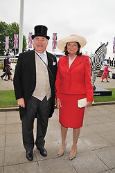 ANTHONY & ANTOINETTE OPPENHEIMER at the 2012 Investec sponsored Derby at Epsom Racecourse, Epsom, Surrey on 2nd June 2012.