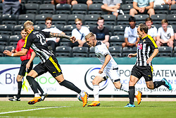 Luke Thomas of Derby County takes on Daniel Jones and David Vaughn of Notts County - Mandatory by-line: Robbie Stephenson/JMP - 14/07/2018 - FOOTBALL - Meadow Lane - Nottingham, England - Notts County v Derby County - Pre-season friendly