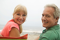 Couple at beach (portrait)