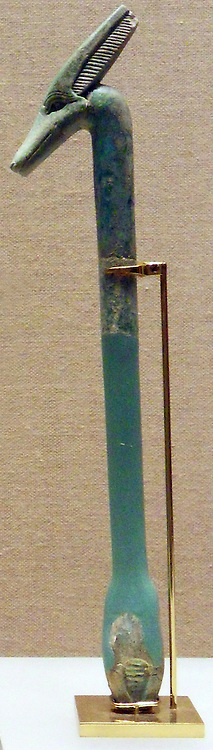 Faience Large was sceptre amulet. ca. 712–332 B.C. Egypt and Sudan, Nubia, Gebel Faras