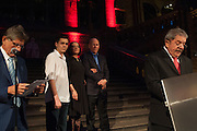 JULIANO SALGADO; LEILA SALGADO; ; SEBASTIAO SALGADO; EX PRESIDENT LULA DA SILVA OF BRAZIL, Opening of Sebastião Salgado: Genesis   Natural History Museum, Cromwell Rd. London. 9 April 2013