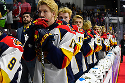 The Erie Otters in Game 4 of the 2017 MasterCard Memorial Cup against the Saint John Sea Dogs on Monday May 22, 2017 at the WFCU Centre in Windsor, ON. Photo by Aaron Bell/CHL Images
