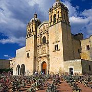 Exterior of Santo Domingo de Guzman convent. Oaxaca, Mexico.