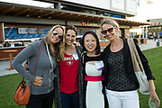 Sarah Morris, Stella Treas, Sharon Lee, and Christy Peetz pose for a photo during the Silicon Valley Business Journal 40 Under 40 event at Avaya Stadium in San Jose, California, on July 31, 2018. (Stan Olszewski for Silicon Valley Business Journal)