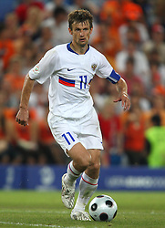 SERGEI SEMAK.RUSSIA & FC RUBIN KAZAN.HOLLAND V RUSSIA, EURO 2008.ST JAKOB-PARK, BASEL, SWITZERLAND.21 June 2008.DIU81330..  .WARNING! This Photograph May Only Be Used For Newspaper And/Or Magazine Editorial Purposes..May Not Be Used For, Internet/Online Usage Nor For Publications Involving 1 player, 1 Club Or 1 Competition,.Without Written Authorisation From Football DataCo Ltd..For Any Queries, Please Contact Football DataCo Ltd on +44 (0) 207 864 9121