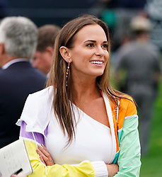 May 19, 2019 - Bethpage, New York, United States - Jena Sims, finaceé f Brooks Koepka, on the 18th green after the final round of the 101st PGA Championship at Bethpage Black. (Credit Image: © Debby Wong/ZUMA Wire)