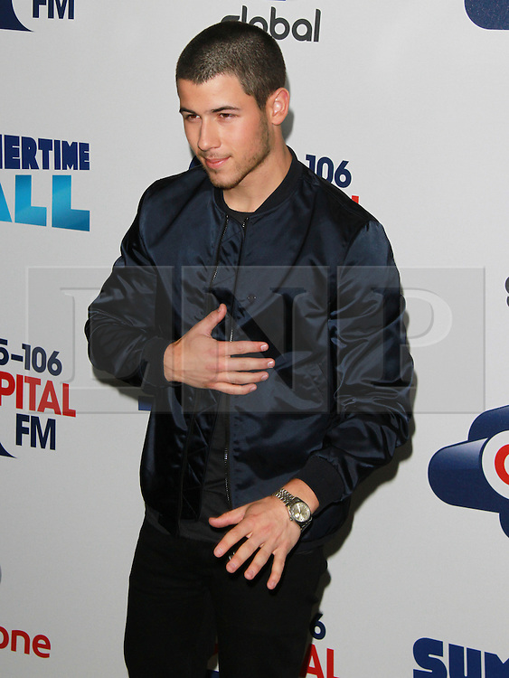 © London News Pictures. Nick Jonas, Capital FM Summertime Ball, Wembley Stadium, London UK, 06 June 2015, Photo by Brett D. Cove /LNP