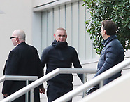 Wayne Rooney arrives at The Lowry Hotel - 21 oct 2017