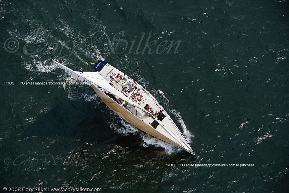 America II, 12 Meter Class, racing at the New York Yacht Club Race Week.