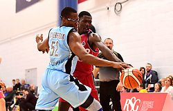 Daniel Edozie of Bristol Flyers  - Photo mandatory by-line: Joe Meredith/JMP - 18/11/2016 - BASKETBALL - SGS Wise Arena - Bristol, England - Bristol Flyers v Surrey Scorchers - British Basketball League