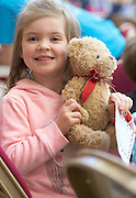 22/02/2014 Sophie McNamara and TeddyBear ,Naonrai Scoil Iognaid  at the 10th annual Teddy Bear Hospital at NUI Galway will take place Thursday and Friday, 22 and 23 January. The event will see over 1,500 sick teddy bears admitted to the hospital, accompanied by their minders, 1,500 primary school children.<br /> <br /> The event is organised by the Sl&aacute;inte Society, the NUI Galway branch of the International Federation of Medical Students Associations, and up to 200 medical and science students will diagnose and treat the teddy bears. In the process, they hope to help children, ranging in age from 3-8 years, feel more comfortable around doctors and hospitals.. Photo:Andrew Downes