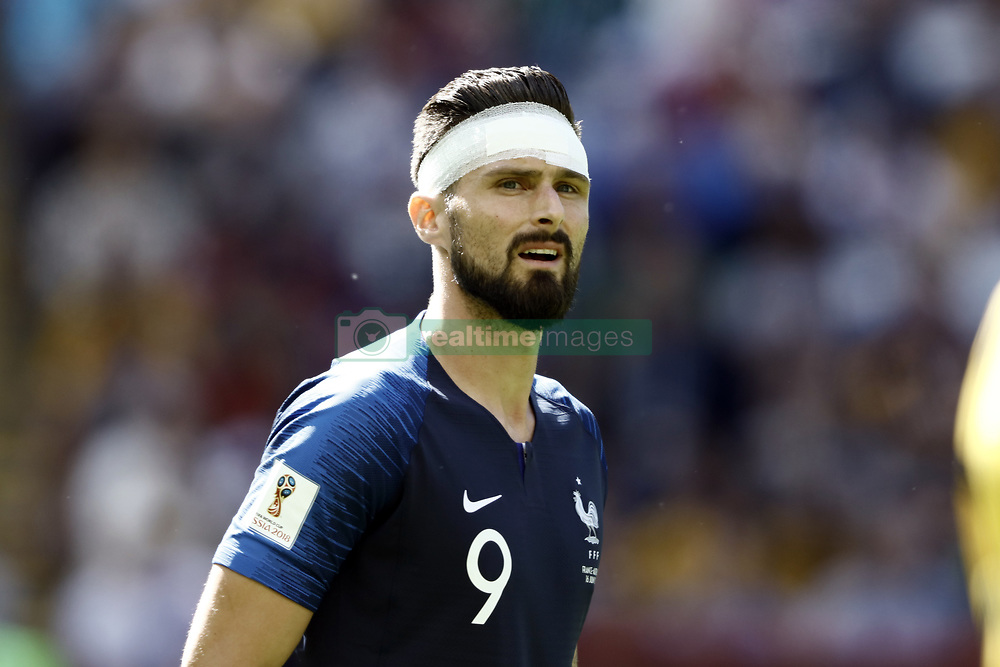 June 16, 2018 - Kazan, Kazan, Russia - Olivier Giroud of France, during the 2018 FIFA World Cup Russia group C match between France and Australia at Kazan Arena on June 16, 2018 in Kazan, Russia. (Credit Image: © Mehdi Taamallah/NurPhoto via ZUMA Press)