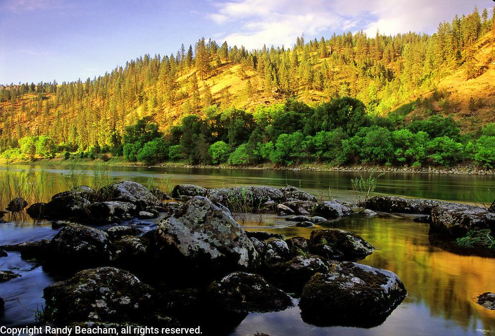 Clearwater River in summer. Near Kamiah, Idaho