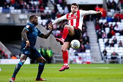 Lynden Gooch of Sunderland takes on Abu Ogogo of Bristol Rovers - Mandatory by-line: Robbie Stephenson/JMP - 22/02/2020 - FOOTBALL - Stadium of Light - Sunderland, England - Sunderland v Bristol Rovers - Sky Bet League One