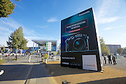 Photokina in Cologne ist the World's biggest bi-annual photo fair..Panasonic Lumix GH3 advertising billboard.