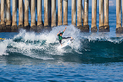 Reef Heazlewood (AUS) advances to Round 2 of the 2018 VANS US Open of Surfing after placing second in Heat 1 of Round 1 at Huntington Beach, California, USA.