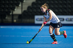 Surbiton's Alice Sharp. University of Birmingham v Surbiton - Semi-Final - Investec Women's Hockey League Finals, Lee Valley Hockey & Tennis Centre, London, UK on 22 April 2017. Photo: Simon Parker