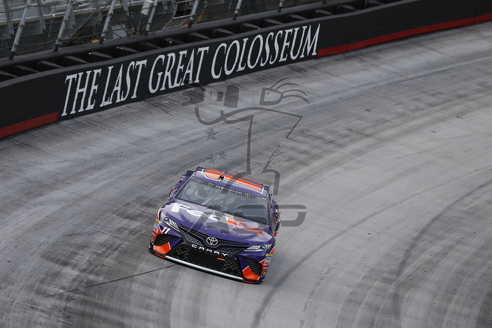 August 18, 2017 - Bristol, Tennessee, USA: Denny Hamlin (11) takes to the track to practice for the Bass Pro Shops NRA Night Race at Bristol Motor Speedway in Bristol, Tennessee.