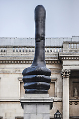 London: The sculpture 'Really Good', by David Shrigley, 22 Oct. 2016