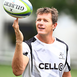 DURBAN, SOUTH AFRICA, 26 January 2016 -  Ryan Strudwick (Assistant Coach) of the Cell C Sharks during The Cell C Sharks Pre Season training for the 2016 Super Rugby Season at Growthpoint Kings Park in Durban, South Africa. (Photo by Steve Haag)<br /> images for social media must have consent from Steve Haag