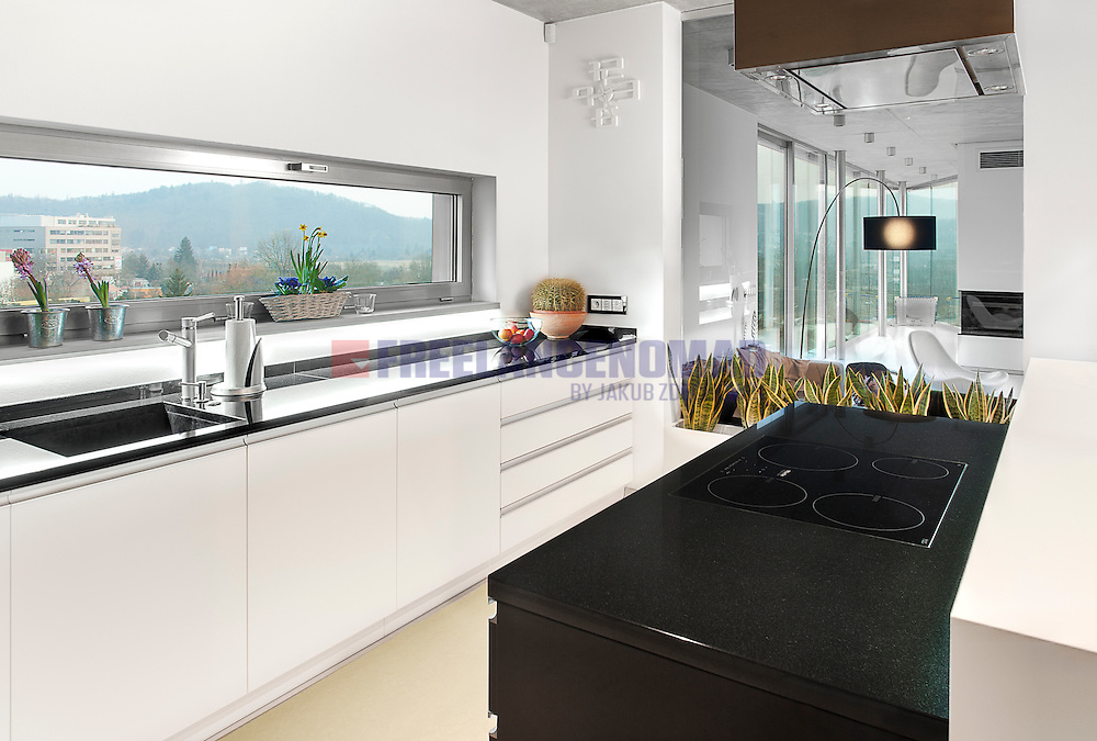 G1981 China Black Dolerite granite kitchen countertop and bar interior residential project