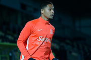 Timothee Dieng warms up before the EFL Sky Bet League 1 match between Burton Albion and Southend United at the Pirelli Stadium, Burton upon Trent, England on 3 December 2019.