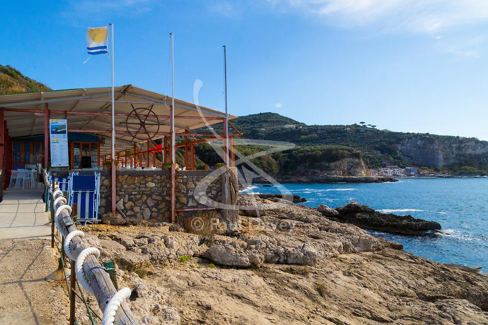 Sorrento, Italy, September 18 2017. A remote seaside restaurant near the hamlet of Poulo, close to Sorrento, Italy. © Paul Davey
