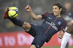 PARIS, April 30, 2018  Edinson Cavani from Paris Saint-Germain tries to shoot during the match against Guingamp of French Ligue 1 2017-18 season 35th round in Paris, France on April 29, 2018. Paris Saint-Germain equals Guingamp with 2-2 at home. (Credit Image: © Jack Chan/Chine Nouvelle/Xinhua via ZUMA Wire)