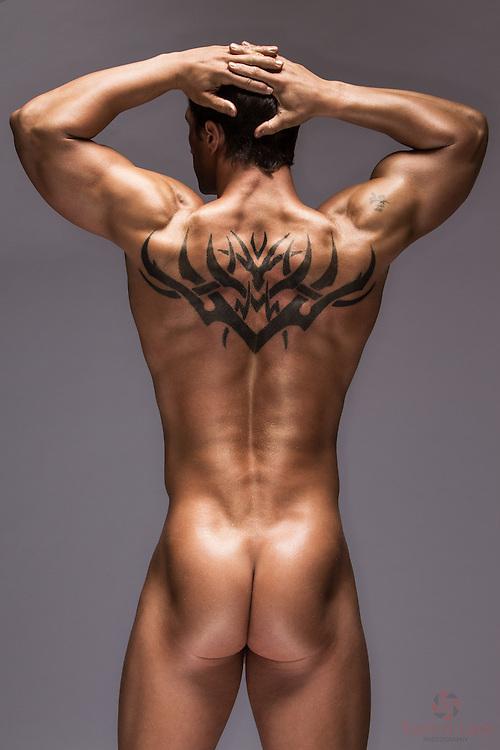 James Luety Golden Boy back nude