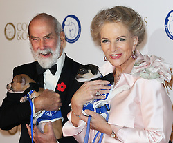 Prince and Princess Michael of Kent with two dogs at the Battersea Dogs & Cats Home Collars & Coats Gala Ball in London, Thursday, 7th November 2013. Picture by Stephen Lock / i-Images