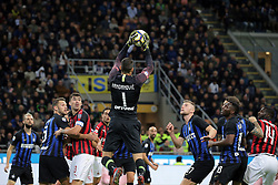 October 21, 2018 - Milan, Milan, Italy - Samir Handanovic #1 of FC Internazionale Milano in action during the serie A match between FC Internazionale and AC Milan at Stadio Giuseppe Meazza on October 21, 2018 in Milan, Italy. (Credit Image: © Giuseppe Cottini/NurPhoto via ZUMA Press)