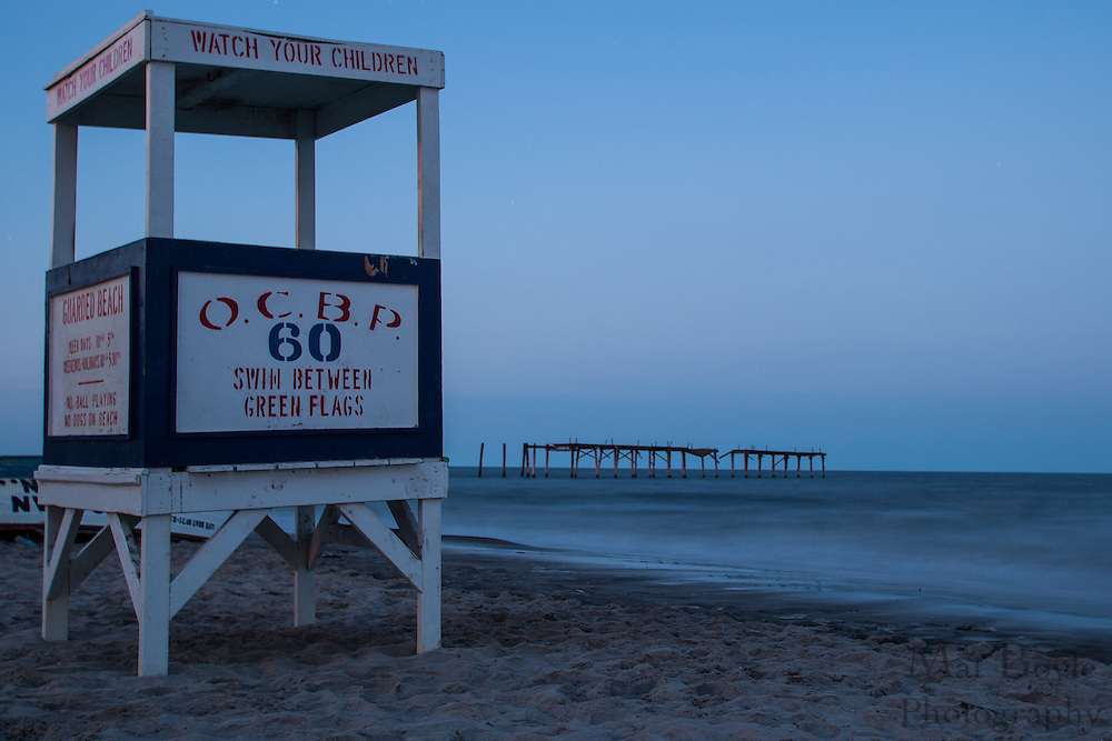 The 60th street lifeguard stand sits in front of the 59th street pier in Ocean City, NJ on August 18, 2012. (photo / Mat Boyle)