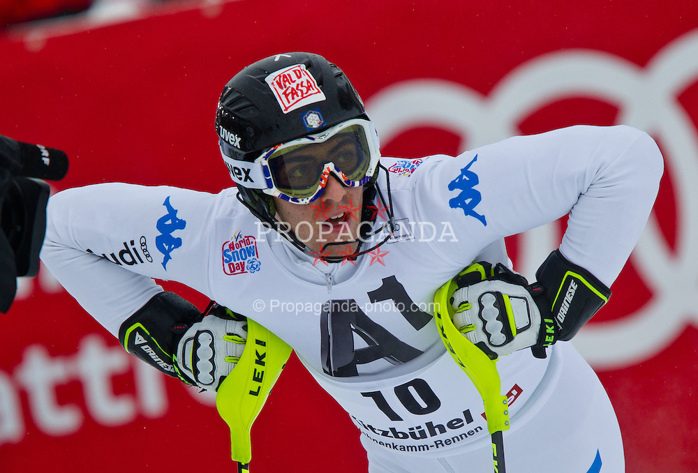 22.01.2012, Ganslernhang, Kitzbuehel, AUT, FIS Weltcup Ski Alpin, 72. Hahnenkammrennen, Herren, Slalom 1. Durchgang, im Bild Stefano Gross (ITA) // Stefano Gross of Italy during Slalom race 1st run of 72th Hahnenkammrace of FIS Ski Alpine World Cup at 'Ganslernhang' course in Kitzbuhel, Austria on 2012/01/22. EXPA Pictures © 2012, PhotoCredit: EXPA/ Markus Casna