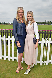 Left to right, JODIE KIDD and DONNA AIR at the Cartier Queen's Cup Polo final at Guard's Polo Club, Smiths Lawn, Windsor Great Park, Egham, Surrey on 14th June 2015